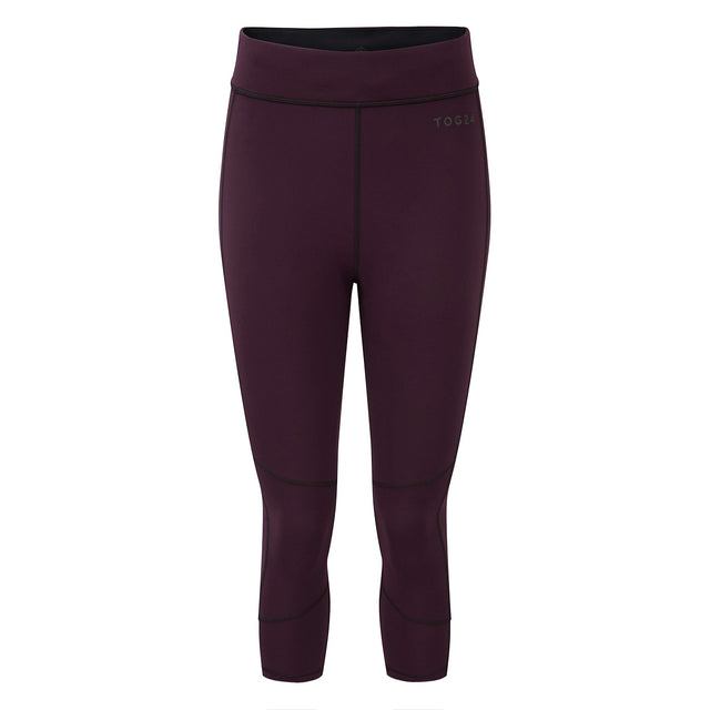 Raid Womens Reversible Performance Leggings - Deep Port/Black image 1
