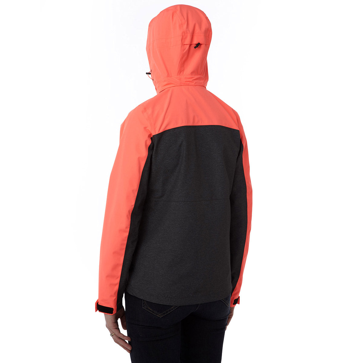 Rhea Womens Milatex Jacket - Dark Grey Marl/Coral image 4