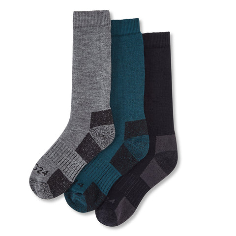 Rigton 3 Pack Merino Trek Socks - Navy/Lagoon/Dark Grey