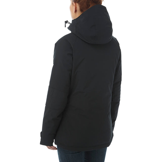 Riley Womens Waterproof Down Fill Ski Jacket - Black image 3