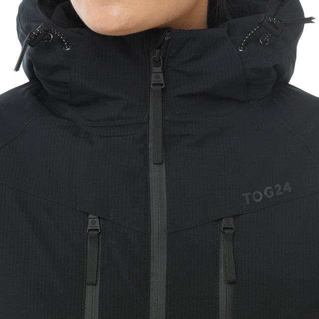 Riley Womens Waterproof Down Fill Ski Jacket - Black image 5