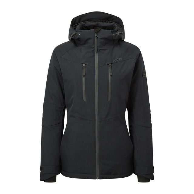 Riley Womens Waterproof Down Fill Ski Jacket - Black image 1