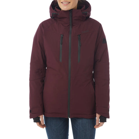 Riley Womens Waterproof Down Fill Ski Jacket - Deep Port