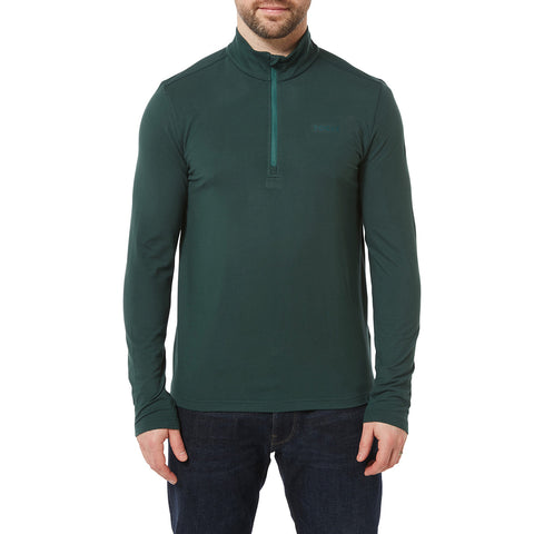 Robinson Mens Performance Zipneck - Forest Green