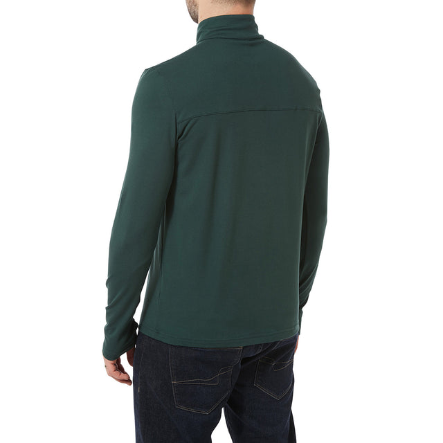 Robinson Mens Performance Zipneck - Forest Green image 3