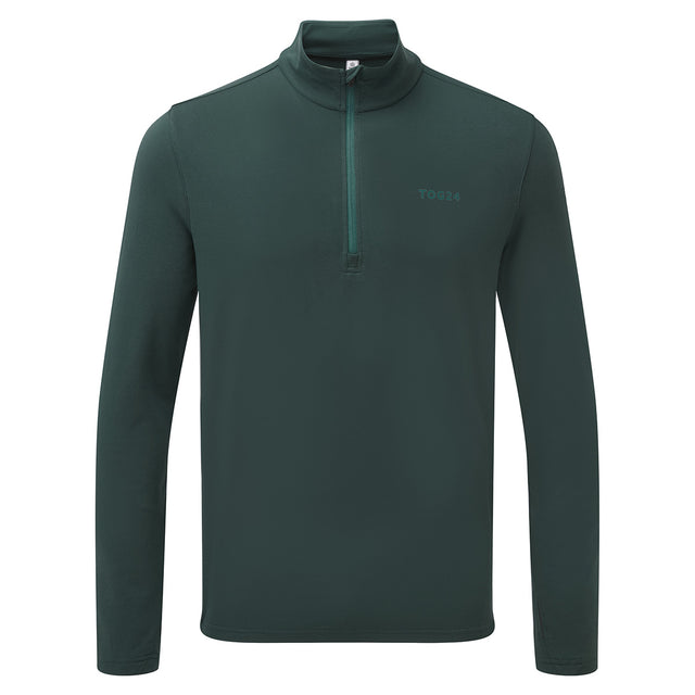 Robinson Mens Performance Zipneck - Forest Green image 1