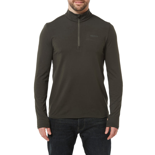 Robinson Mens Performance Zipneck - Charcoal image 2