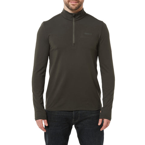 Robinson Mens Performance Zipneck - Charcoal