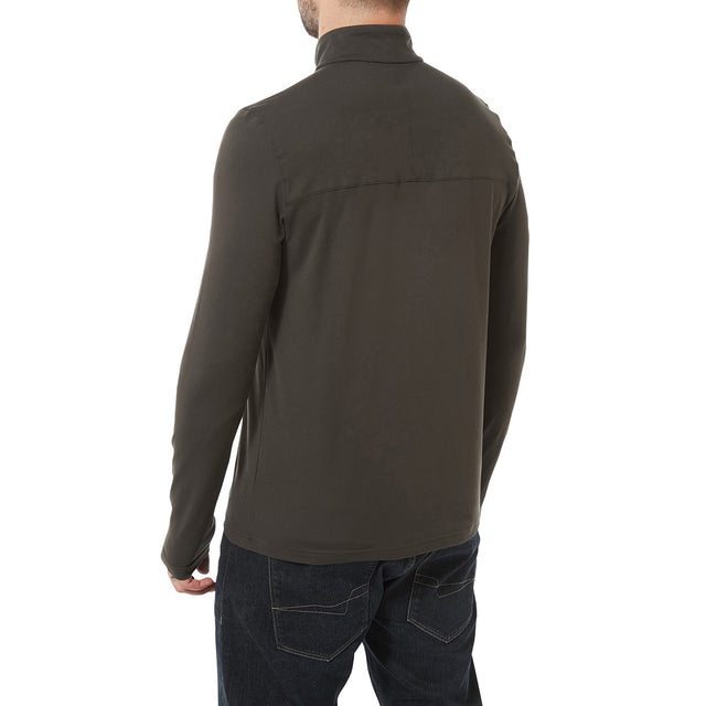 Robinson Mens Performance Zipneck - Charcoal image 3