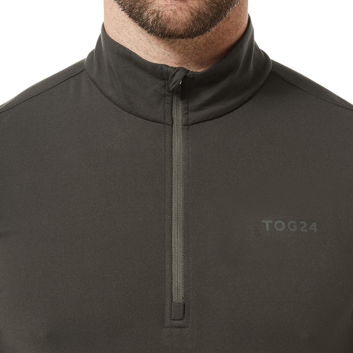 Robinson Mens Performance Zipneck - Charcoal image 4