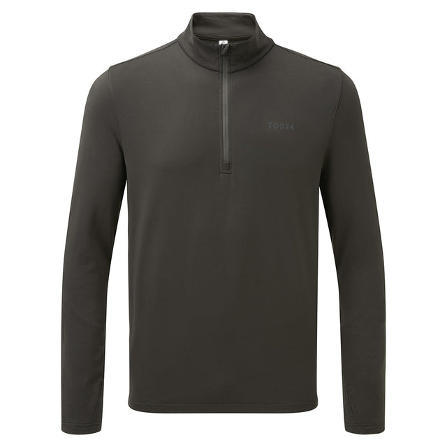 Robinson Mens Performance Zipneck - Charcoal image 1