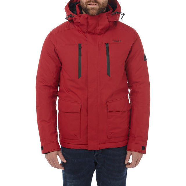 Rogan Mens Waterproof Insulated Jacket - Chilli Red image 2