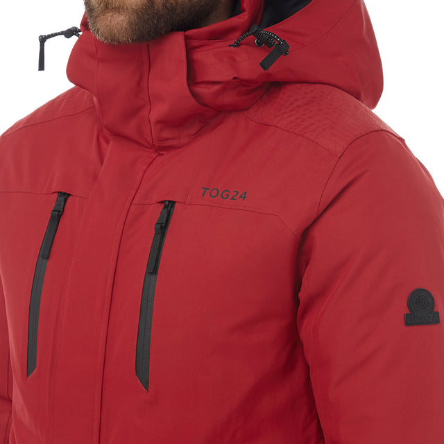 Rogan Mens Waterproof Insulated Jacket - Chilli Red image 5