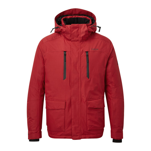 Rogan Mens Waterproof Insulated Jacket - Chilli Red image 1