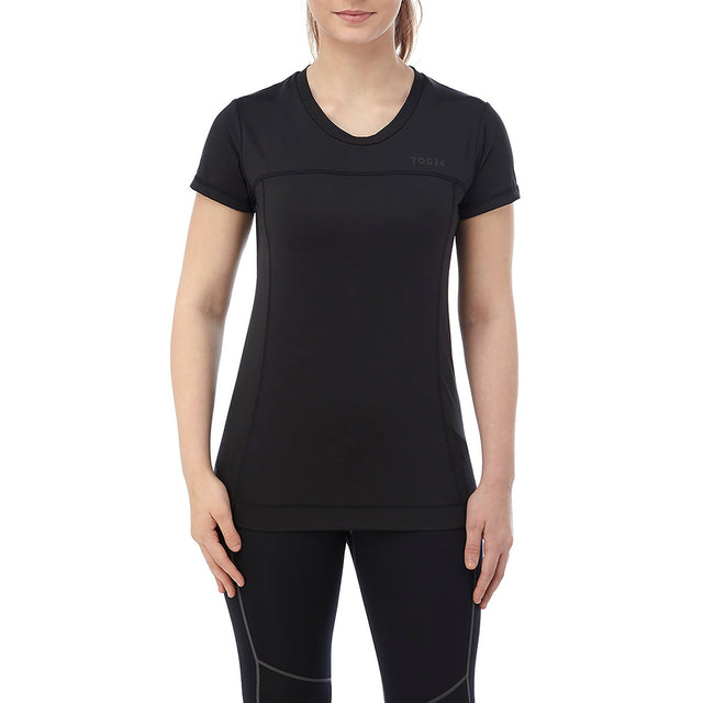 Safila Womens Stretch Performance T-Shirt - Black image 2