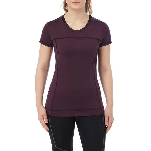 Safila Womens Stretch Performance T-Shirt - Deep Port image 2