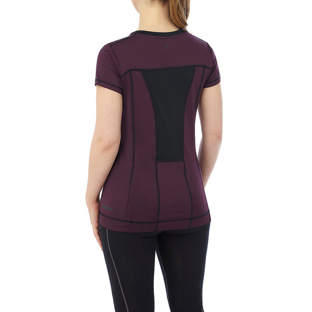 Safila Womens Stretch Performance T-Shirt - Deep Port image 3