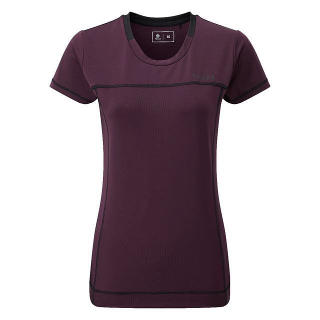 Safila Womens Stretch Performance T-Shirt - Deep Port image 1