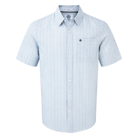 Samuel Mens Stripe Shirt - French Navy