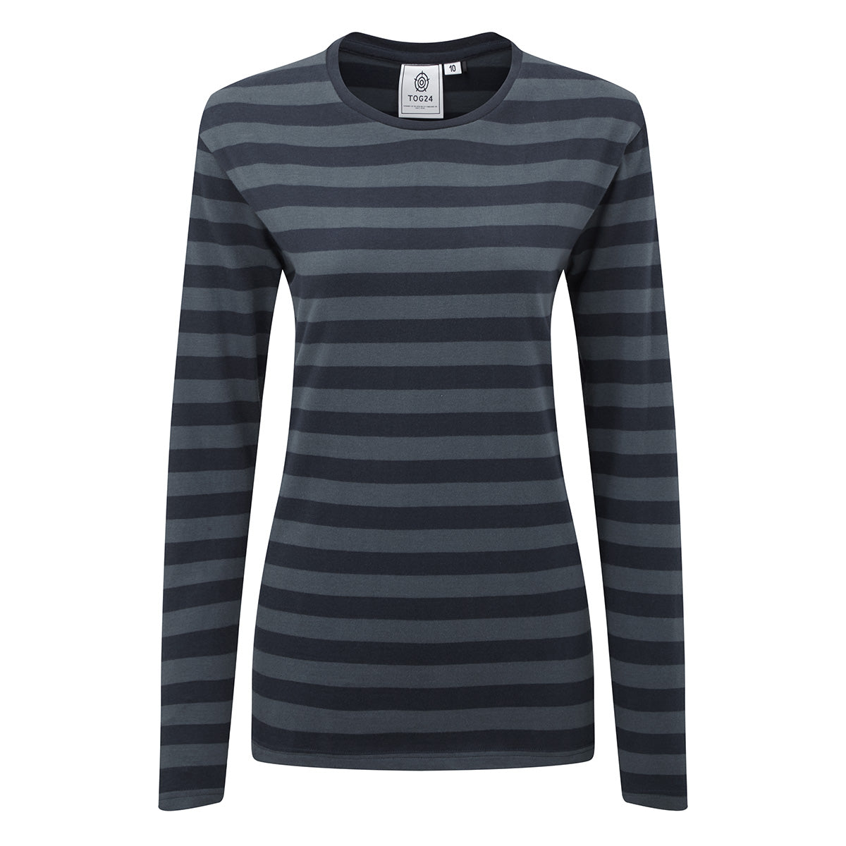 Sandsend Womens Long Sleeve Stripe T-Shirt - Dark Indigo image 4