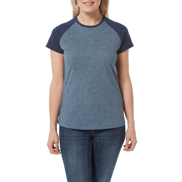Saunders Womens T-Shirt - Naval Blue/Denim image 2