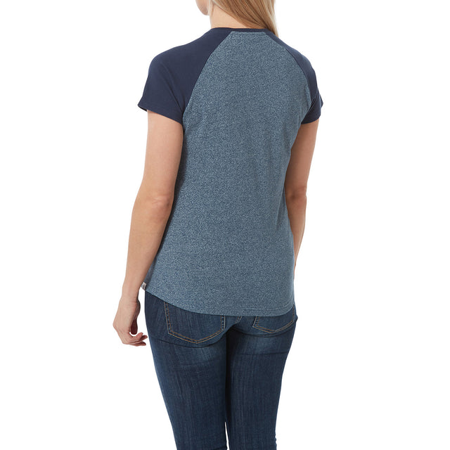 Saunders Womens T-Shirt - Naval Blue/Denim image 3