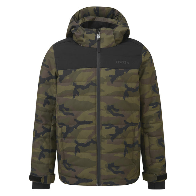 Savick Kids Insulated Ski Jacket - Camo/Black