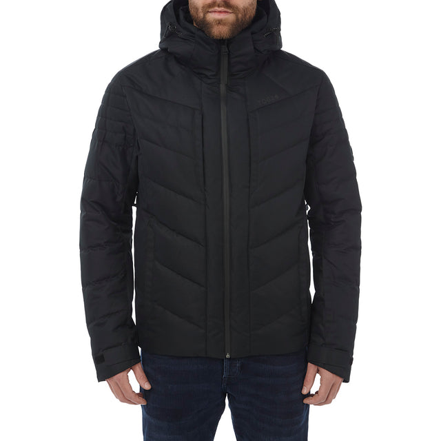 Scar Mens Down Insulated Ski Jacket - Black image 2