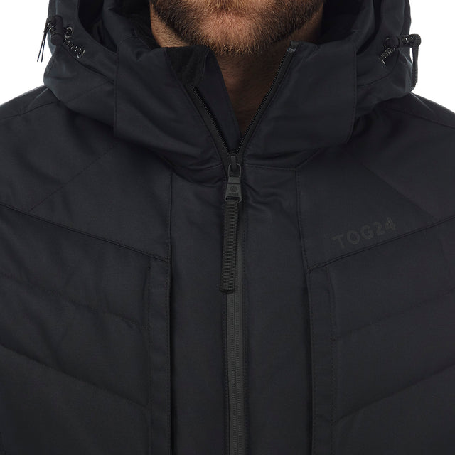Scar Mens Down Insulated Ski Jacket - Black image 5