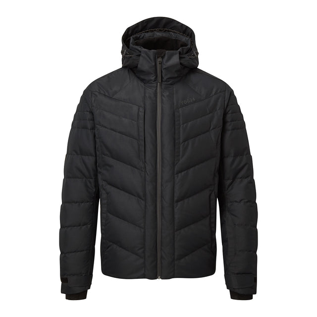 Scar Mens Down Insulated Ski Jacket - Black image 1