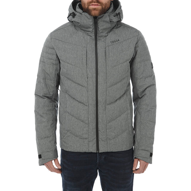 Scar Mens Down Insulated Ski Jacket - Grey Marl image 2