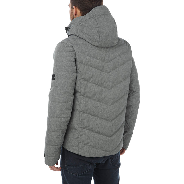 Scar Mens Down Insulated Ski Jacket - Grey Marl image 3