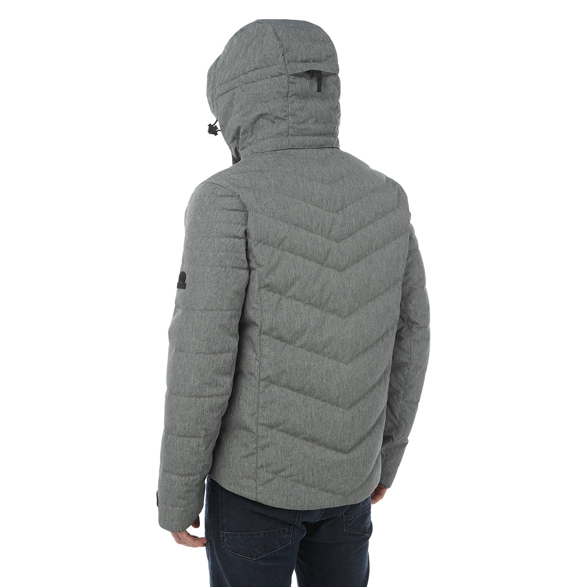Scar Mens Down Insulated Ski Jacket - Grey Marl image 4