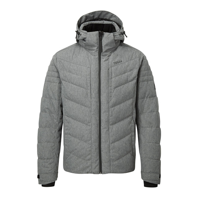 Scar Mens Down Insulated Ski Jacket - Grey Marl image 1