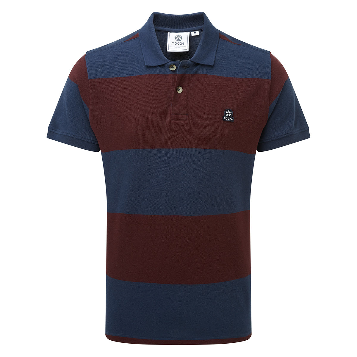 Seacroft Mens Pique Stripe Polo - Naval Blue Stripe image 4