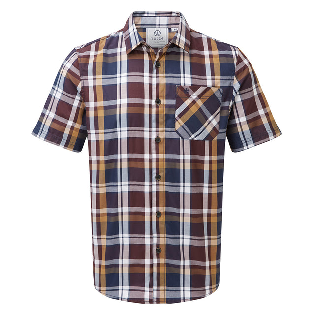 Selby Mens Shirt - Navy/Port/Honey image 1