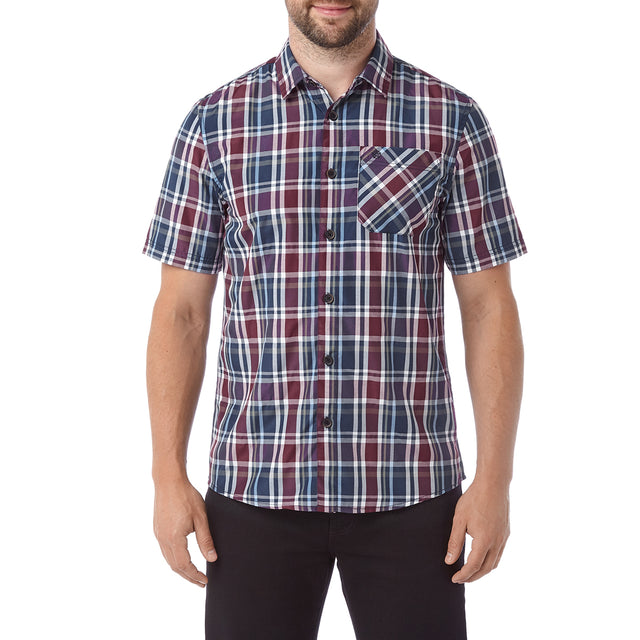 Selby Mens Shirt - Navy/ Red image 2