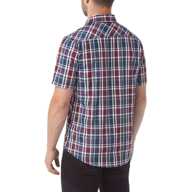 Selby Mens Shirt - Navy/ Red image 3