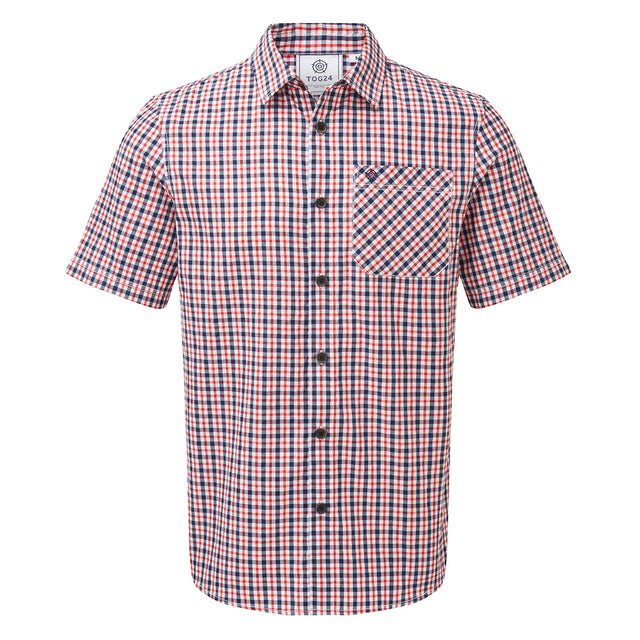 Selby Mens Shirt - Navy/Chilli image 1