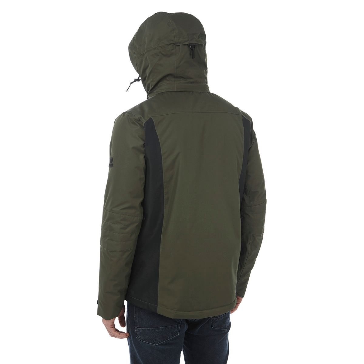 Sharp Mens Waterproof Insulated Ski Jacket - Dark Khaki/Black image 4