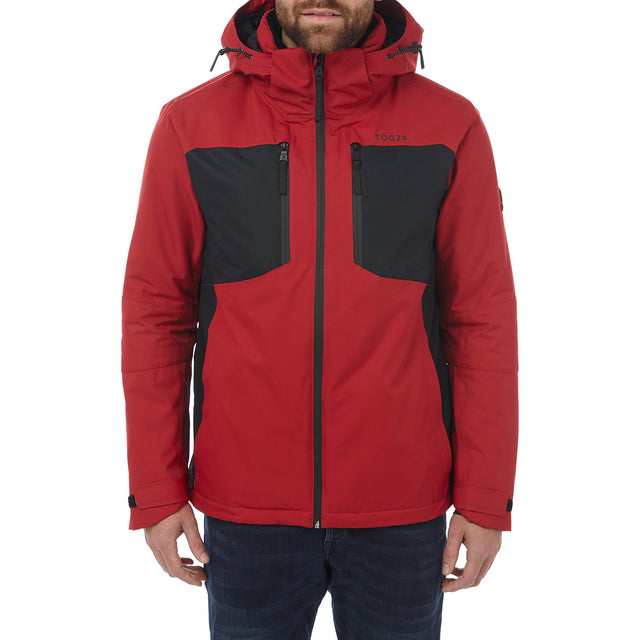 Sharp Mens Waterproof Insulated Ski Jacket - Chilli Red/Black image 2