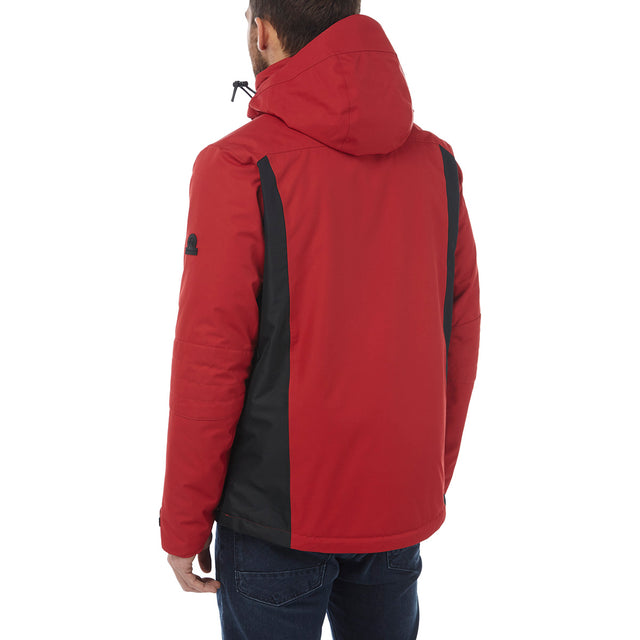 Sharp Mens Waterproof Insulated Ski Jacket - Chilli Red/Black image 3