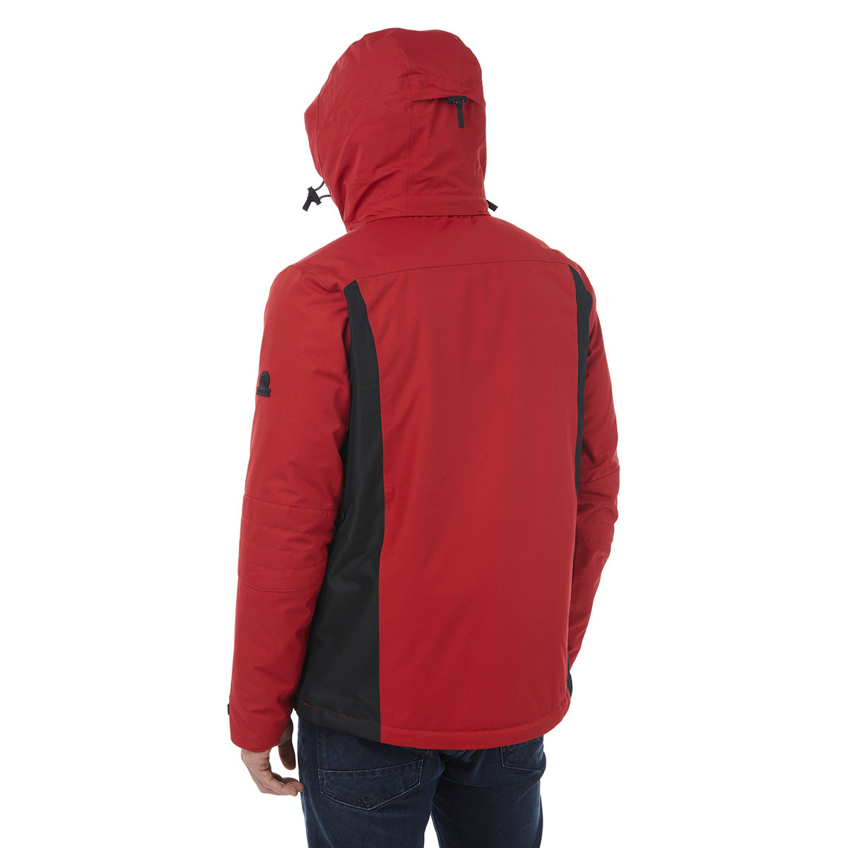 Sharp Mens Waterproof Insulated Ski Jacket - Chilli Red/Black image 4