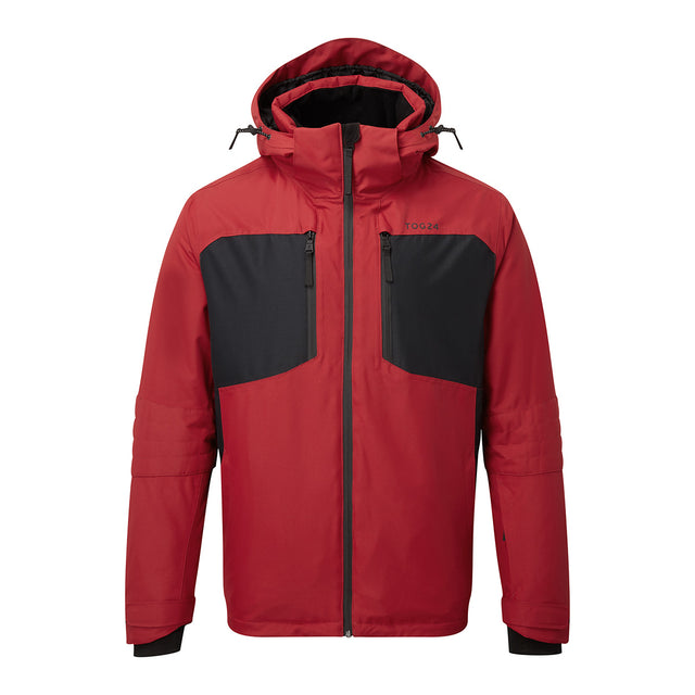 Sharp Mens Waterproof Insulated Ski Jacket - Chilli Red/Black image 1