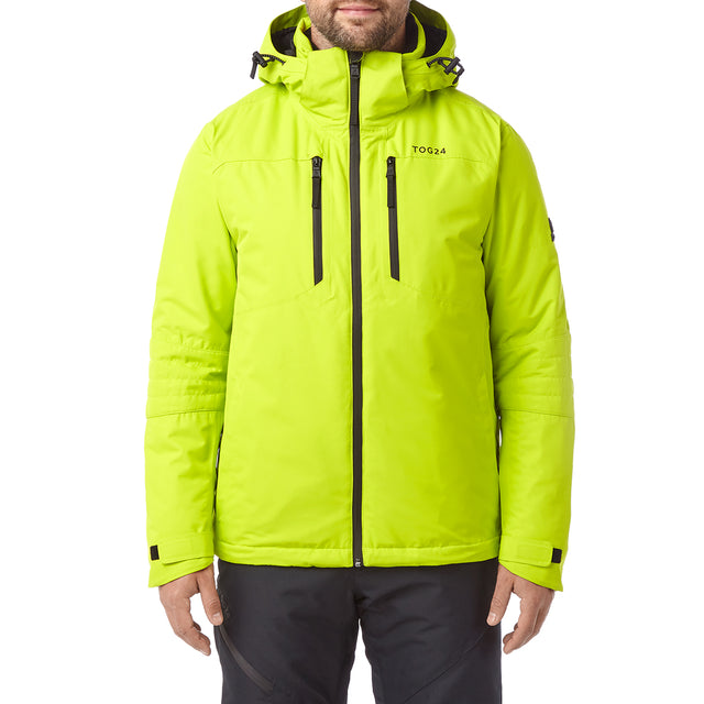 Sharp Mens Waterproof Insulated Ski Jacket - Bright Lime image 2