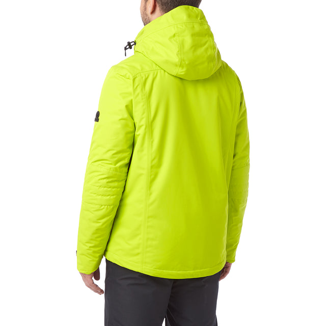 Sharp Mens Waterproof Insulated Ski Jacket - Bright Lime image 3
