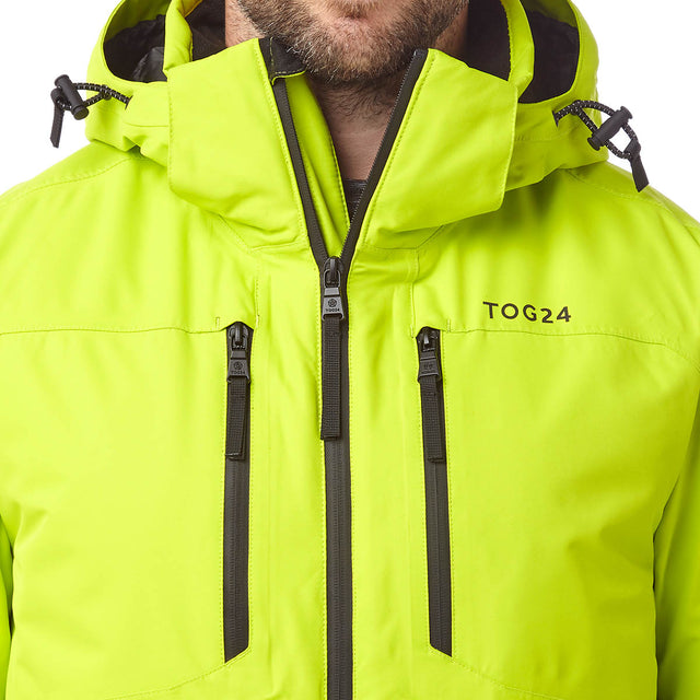 Sharp Mens Waterproof Insulated Ski Jacket - Bright Lime image 5
