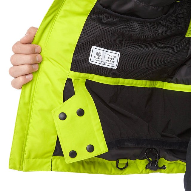 Sharp Mens Waterproof Insulated Ski Jacket - Bright Lime image 6