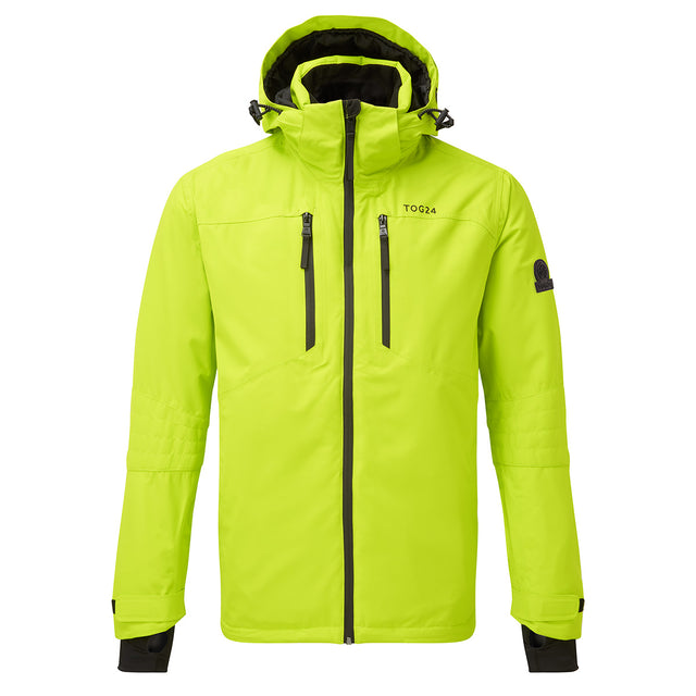 Sharp Mens Waterproof Insulated Ski Jacket - Bright Lime image 1
