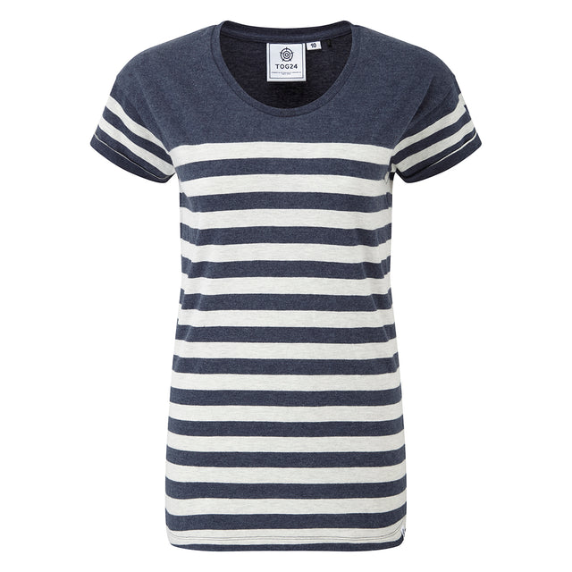 Shea Stripe Womens T-Shirt - Navy Marl